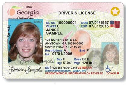 Georgia Driver's License Image
