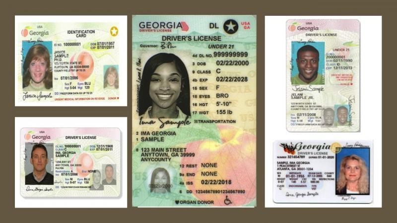 Sample valid Georgia Driver Licenses