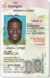 Sample License Male under 21